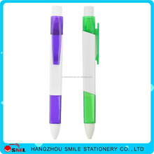 high quality plastic pen square ballpoint Pen With Rubber Grip