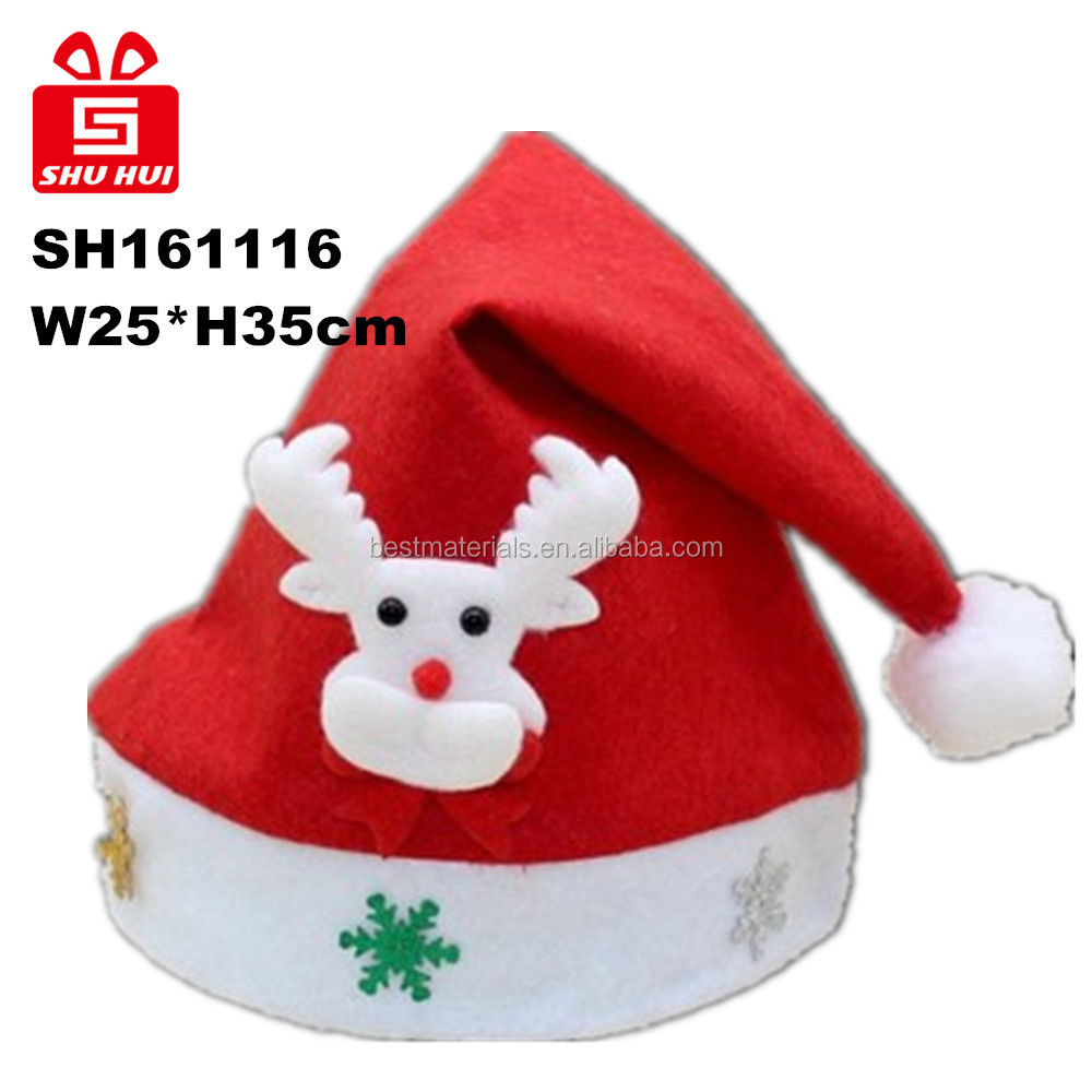 Adult Child Christmas Hat Caps Santa Claus Father Xmas Cotton Cap Christmas Decoration Gift