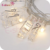 Factory Hotsale Home Wedding Decoration 40LED Party Fovar Plastic Photo Clip String Lights