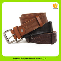16234 Wholesales Vintage Genuine/Pure Crazy Horse Leather Original Strong Leather Men Pin Belt
