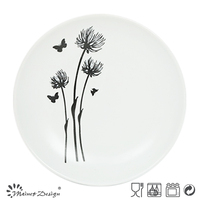 cheap bulk custom printed ceramic dinner plate