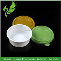 350ml Round disposable plastic cup for restaurant with lid