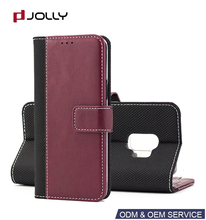 Leather Mobile Wallet Case For Samsung Galaxy, Cell Phone Case For Samsung Galaxy S9