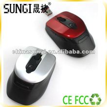 2012 Fashionable Computer 6D wireless optical wheel mouse