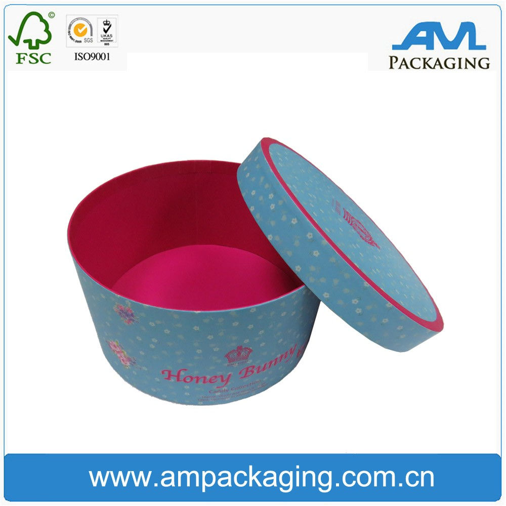 Tube paper cake boxes decoration box for cake packaging