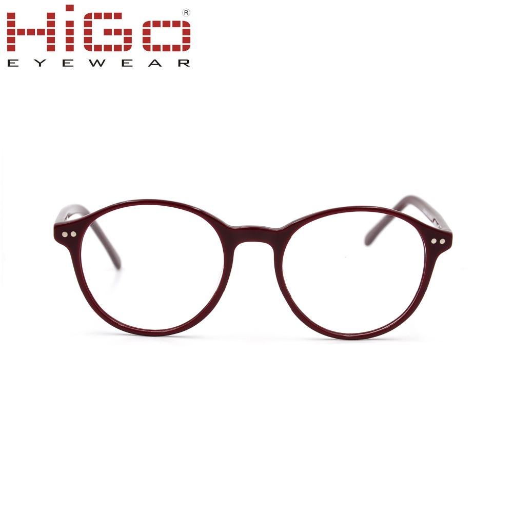 Forma redonda anteojos Italia diseño anteojos marco fábrica y barato ...