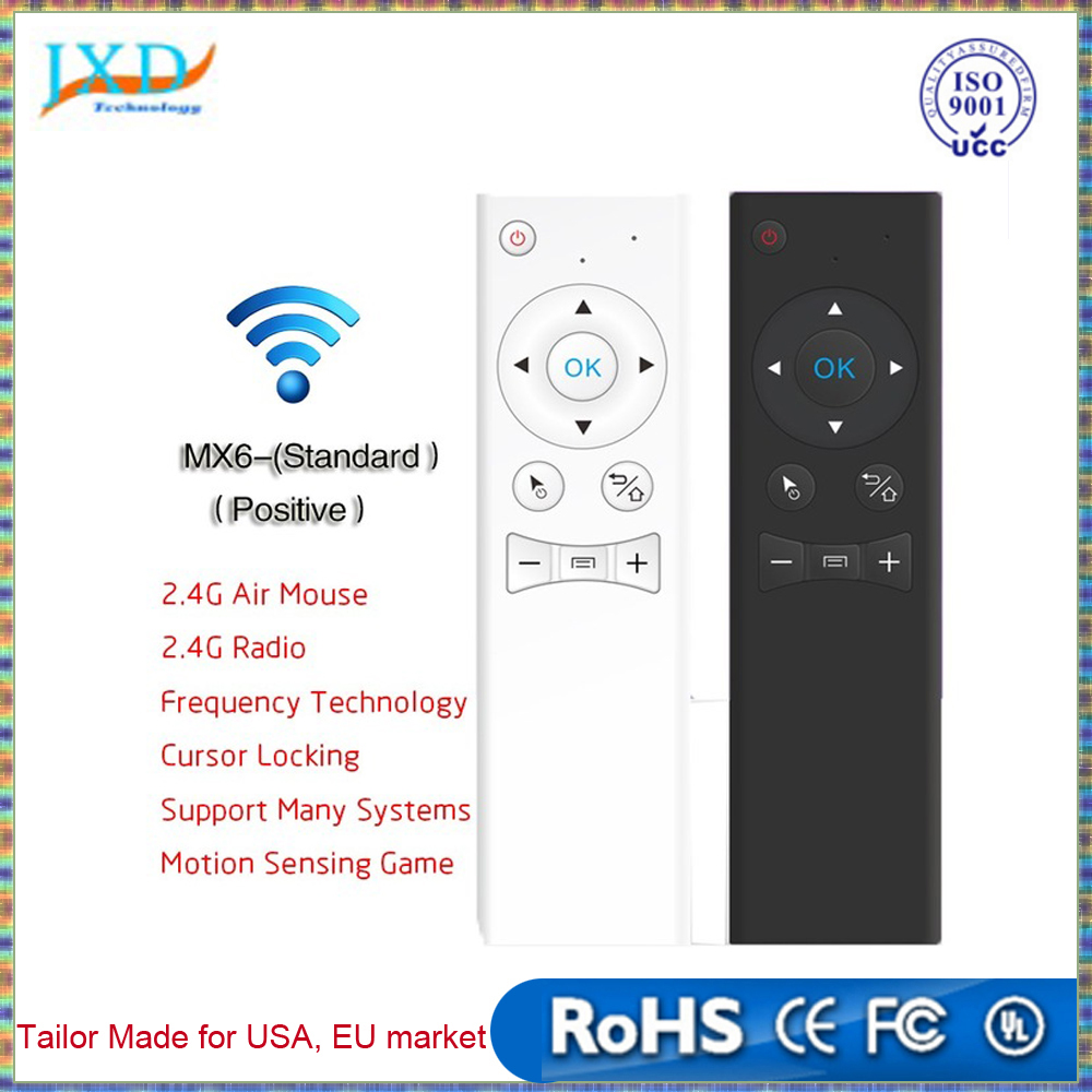 6-Axis 2.4Ghz Wireless Mini Keyboard Standard Fly Air Mouse Motion Sensing Mouse For Network Player Android TV Box Smart TV