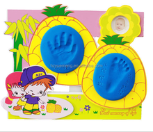 Cute cartoon newborn foot print photo frame kids toys