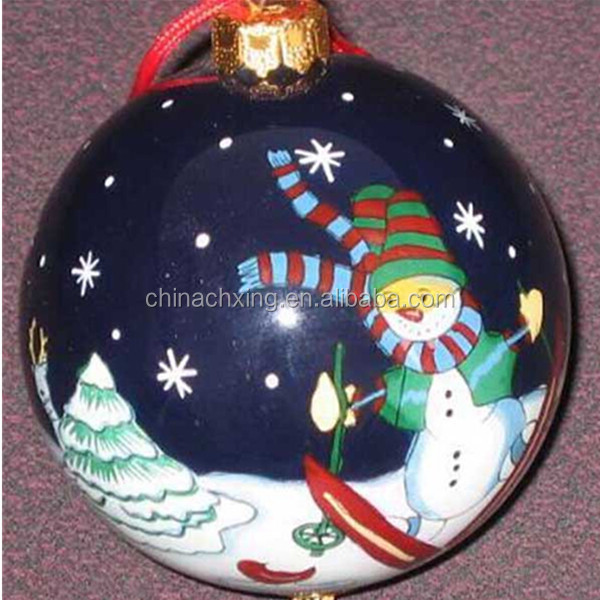 Different designs Glass Christmas baubles personalized with factory price