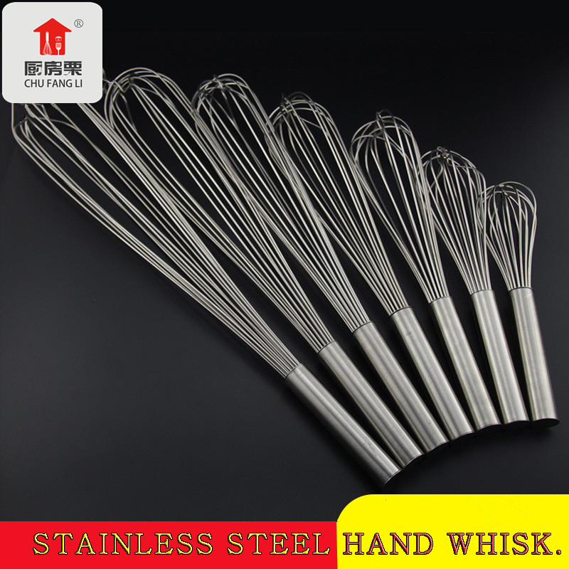 wholesale Stainless Steel wire whisk flat egg beater mini egg whisk