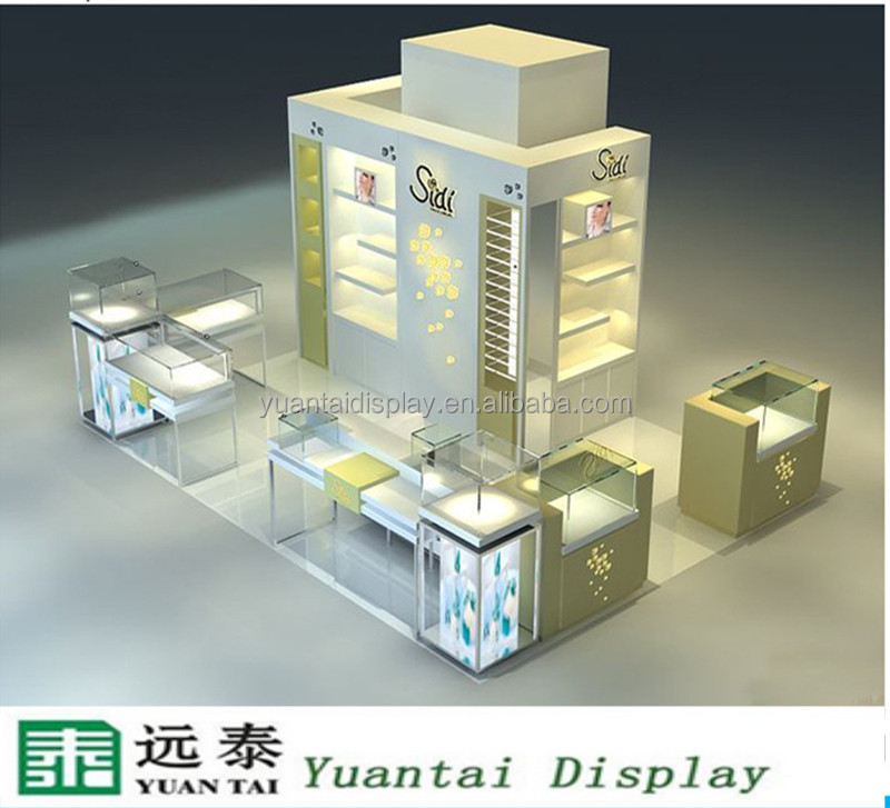 original mall kiosk glass jewelry display cabinet jewellery shops interior design ideas
