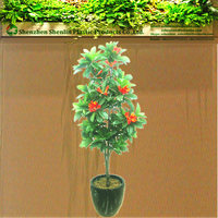 bonsai artificial plastic potted flowring olive trees plants sale