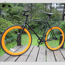 700C with black frame and orange rims hot sale <strong>specialized</strong> road bike complete