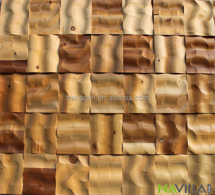 Decorative Wood Wall Tiles 3D Wood Effect Wall Tile Wall Covering