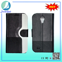 Top quality luxury smooth leather silicone case for samsung galaxy s4 mini