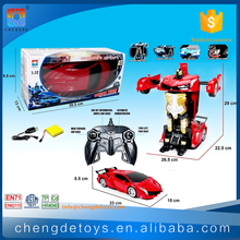 1:12 Remote Control Transformable Car Robot For 2017 New Toy Trans Robot Car With Battery