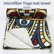 Quick dry Private label Printed custom Microfiber Yoga Towel