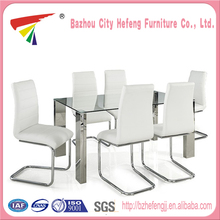 New products Modern Fibreglass heavy-duty dining table and chairs