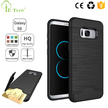VIP ID Credit Card Slot Kickstand Mobile Phone Back Cover For Samsung Galaxy S8 Plus