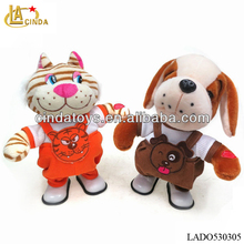 Cute electric plush toys rocking animals,singing toys walking animal