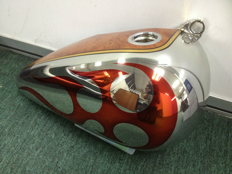 Chrome Motorcycle Tank