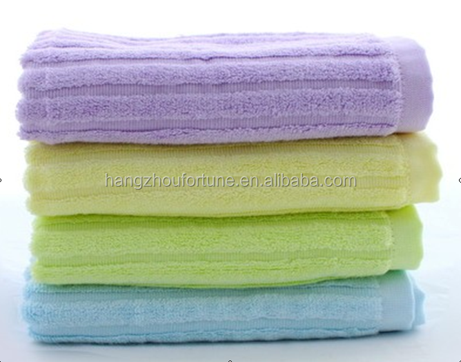 stripe face towel bamboo terry towelling fabric