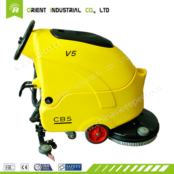 subway equipment high efficient hand push battery use floor scrubber with Germany technology imported