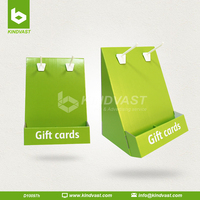Cardboard Countertop Display with Header For Gift Cards