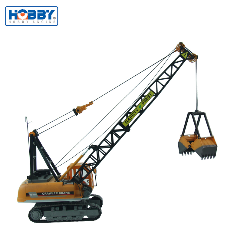 1:12 Construction Vehicles RTR Electronic Powered RC Crawler Crane Of Bucket Type