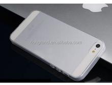 0.2mm Ultra Thin Slim clear Rubber Silicone TPU Back Cover Case For iPhone5 5S