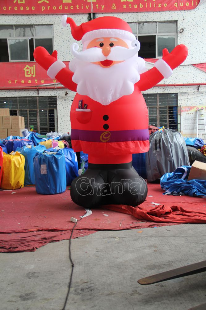 12 Foot Giant Inflatable Christmas Old Man Santa Claus For Advertising Holiday Decoration