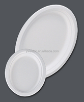 Bagasse Plate/Biodegradable Tableware/Sugarcane pulp bagasse food plate Various sizes and biodegradable
