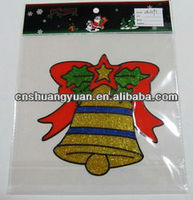 transparent christmas window sticker