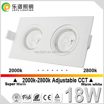 Recessed cob led downlight suqare dimmable downlight 9w cutout83mm