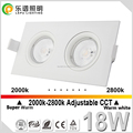 Recessed cob led lampen dimmable anti-glare indoor square downlight 9w
