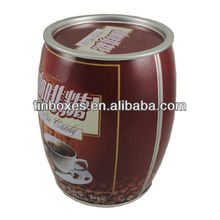 wholesale round decorative coffee tin cans