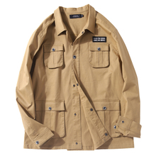 Oversized <strong>men's</strong> Shirt collar <strong>jacket</strong> loose handsome casual coat