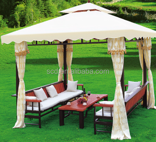 3*3m Durable Outdoor Furniture Garden Gazebo wirh Curtains