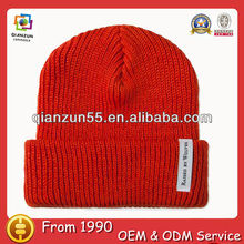 wholesale adult knitted winter hats safety orange watch cap