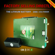Innovative deep cycle ultra light only 3.5KGS li ion dry cell 12v 50ah 100ah 200ah lifepo4 battery with 10A/h battery charger