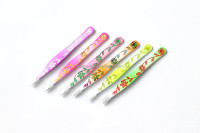 beauty eyebrow tweezers,slanted tip nippers