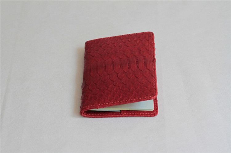 Jranter Genuine Python Skin Passport Wallet