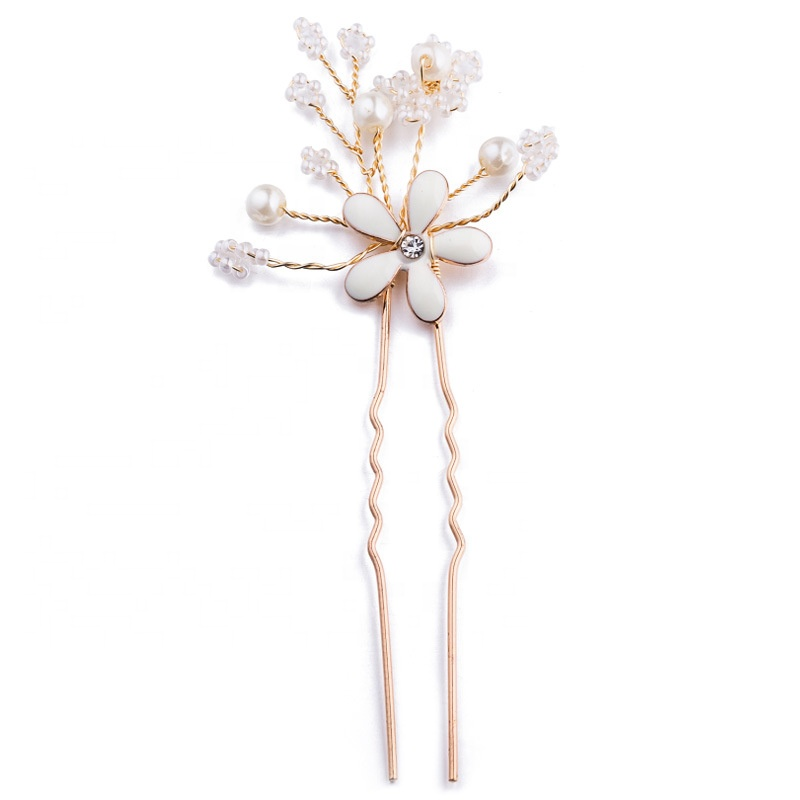 Bridal Ladies Hairpins 2019 Crystal Pearl Girls wedding hair accessories Jewelry Women Hair pins