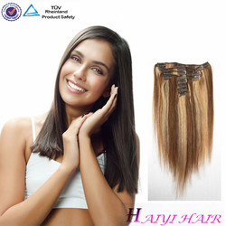 Best Selling 2016 Full Cuticles Remy Double Weft 100% Human Hair Extensions Clip In