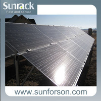 Thin Film Solar Panel Mounting Structure