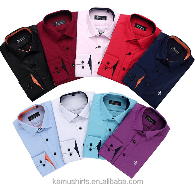 Men Dress Shirt Manufacturers Contrast Collar Cuff Mens