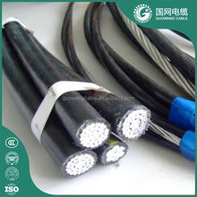 Overhead application quadplex overhead cable with high quality