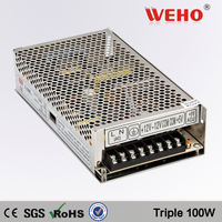 China manufacturer sell 100W Triple output switch mode power supply 12v 2a