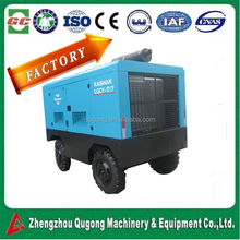 Hot Selling 2017 lubricated portable mobile screw air compressor for mining