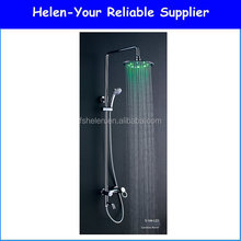 2015 Popular Home And Hotel Modern LED Shower Brass Shower Set With Chrome Plated Shower Mixer Made In Foshan NO.S-104